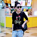 Womens Letter Printin Casual T-Shirt(More Colors)