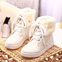 Womens Shoes LIANGMEIYUE Round Toe Snow Boots Flat Heel Ankle Boots with Lace-up More Colors available