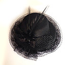 Black Polyester Feather Lace Gothic Lolita Hat