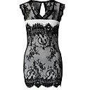 Beauty Sweet Heart Neck Women Clothing Floral Lace Embroidery Vintage Dress High Street Office Lady Elegant Dress 9199
