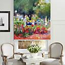 abstracto de campo de estilo de pintura al óleo ve persiana