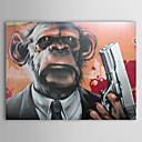 Pintado a mano de pintura de aceite Animal Monkey Man 1211-AN0026