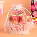 White Lace Basket Candy Favor Bag-Set of 12(More Colors)