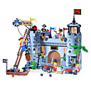 366PCS DIY Pirates Barrack Castle Building Construction Blocks Enlighten Toys