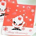 10 piezas transparentes padre rojo del bolso de regalo de navidad navidad