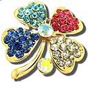 magos temperamento moda regalo elegancia de diamantes de imitación broche de trébol de cuatro hojas