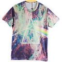 la moda de los hombres de arándanos 3d imprimir corta camiseta 2011