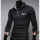cheque camisa patrón de empalme de los hombres mandy