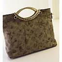 Falidi WomenS Personalized hit color printing matte PU shoulder handbag