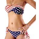 bandera americana con dibujos bikini traje de baño de las mujeres falidi en Europa y América