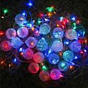 10m conjunto de 80 bolas de navidad luces cambiantes, 220v de metal