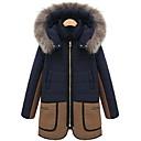 cuello de piel temperamento delgado de manga larga de las mujeres Jamesina espesar causual tweed abrigos