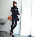 de manga larga chaqueta de tweed largo de shanghai mujeres
