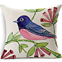 Profile Bird Cotton/Linen Decorative Pillow Cover