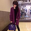 Aiwei bolsillos de las mujeres suelta cardigan tejido de punto larga