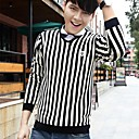 ICED™ Mens Fashion V Neck Stripe Pullover Sweater(More Colors)