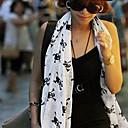 deseos borlas de impresión cráneo algodón pura bufanda