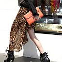 color sólido atractivo de la mujer Weiyi todo vestido de gasa partido