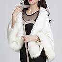 YDW Women's Fashion Fur Woolen Cloak Coat  SV009429 White