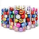6cm coloridas bolas de decoración de Navidad de plástico (24pcs / pack)