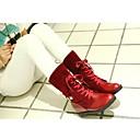 belleza gril botas de combate del dedo del pie redondo mediados de la pantorrilla botas de tacón plano