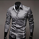 camisa de manga larga delgado personalidad causal de Manba hombres