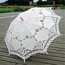battenburglace estilo de la boda de color beige paraguas vendimia sombrilla nupcial