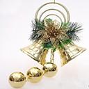 10cm navidad doble árbol de campana decoración colgante
