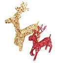 """10 """"adornos de navidad de forma alces, de metal"""