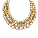 blanco dulce collar corto populares perla del temperamento de las mujeres Senlan