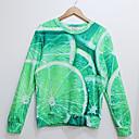 la moda de los hombres de arándano impresión 3D de manga larga de lana camiseta 618
