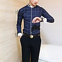 ICED™ Mens Fashion Square Collar Lattice Casual Slim Shirts(More Colors)
