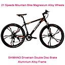 """21 velocidades Shimano tren motriz 26 """" 17 slm ™ disco de freno de bicicleta de montaña 6 radios rueda pinchada absorción de choque tenedor"""