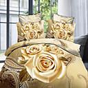 estampado de flores de 4 piezas de conjuntos de planos cómodos Shengyue