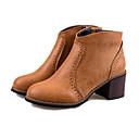 botas de tacón grueso de la vendimia mimi BL 909