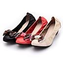 arco decorado zapatos de tacón grueso de las mujeres poemline