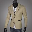Mens Lapel  Zip Casual Blazer Coat