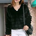 abrigo de piel elegante de la moda de invierno de las mujeres Baoli 8909