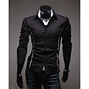 Brother Causal Slim Long Sleeve Shirt  5902(gray,black,white)