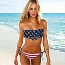 nueva impresión de la bandera de la moda de trajes de baño bikini clásico