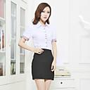 O Lady Womens Office Wear Office Lady Formal Basic Cotton Shirt