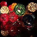 20LED 2,5 millones de navidad luces de cadena de decoración de ratán (AC220V), de color al azar