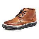 botas de los zapatos de la moda de los hombres bajo talón botines de cuero más colores disponibles