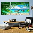 e-home-summer-coastl-clock-canvas-3pcs