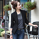 o señora de la oficina desgaste de la oficina formal de la chaqueta de la señora de las mujeres de base (sólo abrigo)