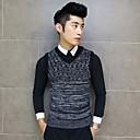 Halei Mens V Neck Knitwear Wool Shirt