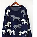 Aiwei alrededor del cuello de los animales suéter patrón de camuflaje de las mujeres