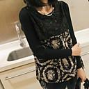 estilo coreano del cordón del vintage camisa de los géneros de punto de las mujeres Folli