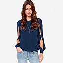camisa de manga de las mujeres anny europeo flojo largo