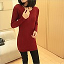 DMI™ Womens Round Collar Solid Color Sweater